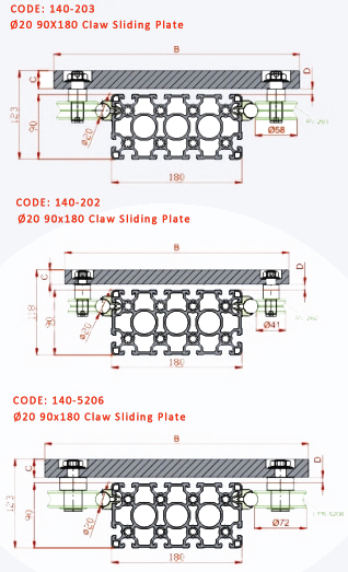Roller Timing Module 90x180 Drawing
