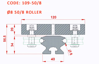 Rolled Block Guiding Ø8 Drawing