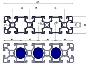 45x180_Aluminium_Profile_Drawing